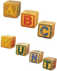 ABC Mall Scavenger Hunt Letter Blocks