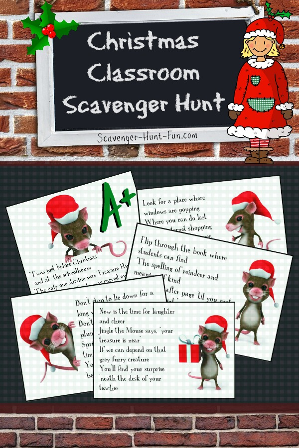 Christmas Classroom Scavenger Hunt For School Holiday Celebrations