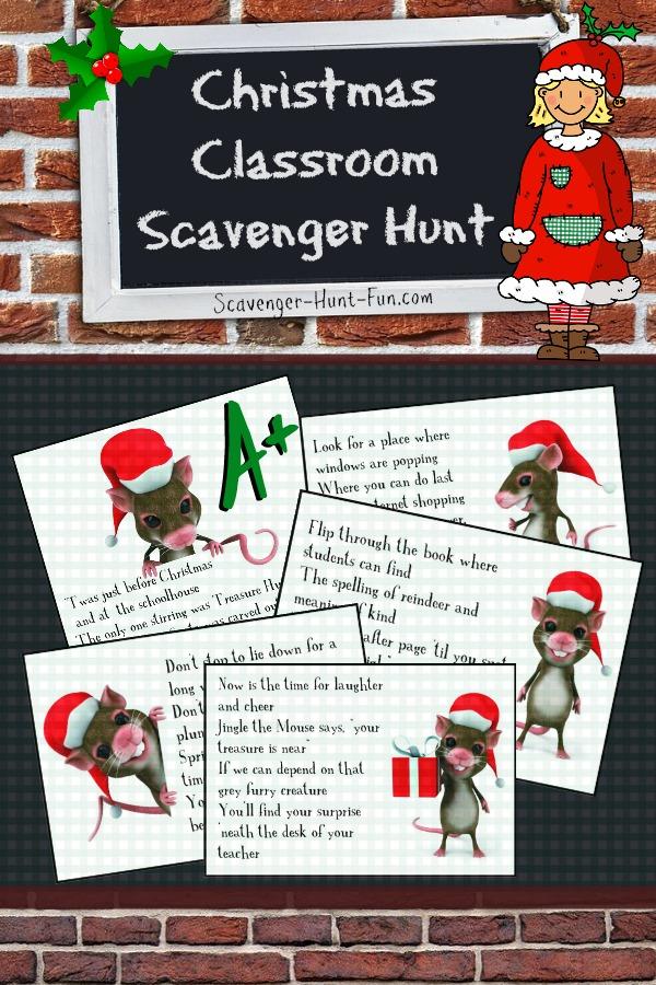 Christmas Classroom Scavenger Hunt