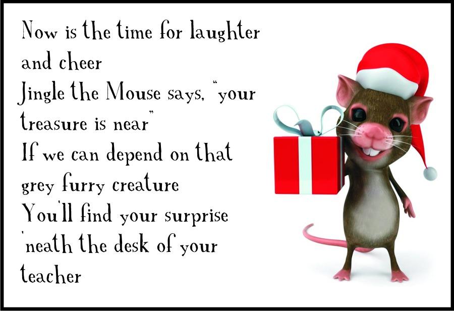 Christmas Classroom Scavenger Hunt Clue 5