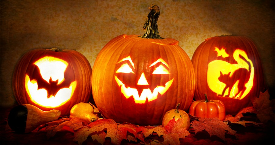 Halloween Jack-o-Lantern Display for Spooky Clue Hunt
