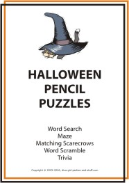 printable halloween pencil puzzles game