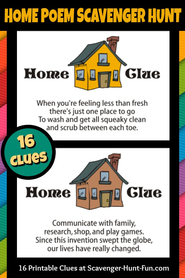 image relating to Family Reunion Scavenger Hunt Printable called Close to the Property Poem Clue Hunt