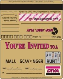 Mall clue hunt mall scavenger hunt printable invitation filmwisefo Images