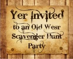 Scavenger hunt party invitation