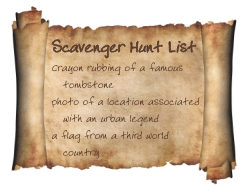 scavenger hunt list ideas create your own unique scavenger hunt