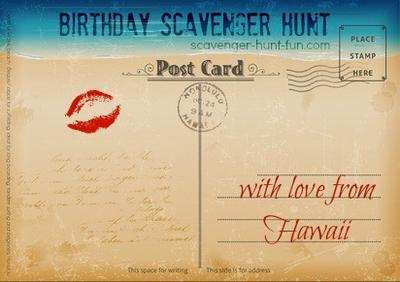 Birthday Scavenger Hunt Clue #1