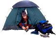 guy in tent