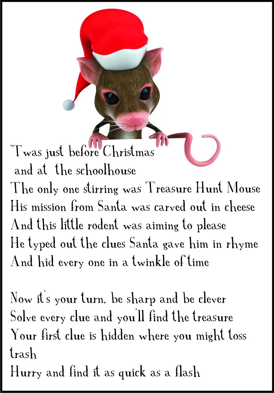 Christmas Classroom Scavenger Hunt Clue 1