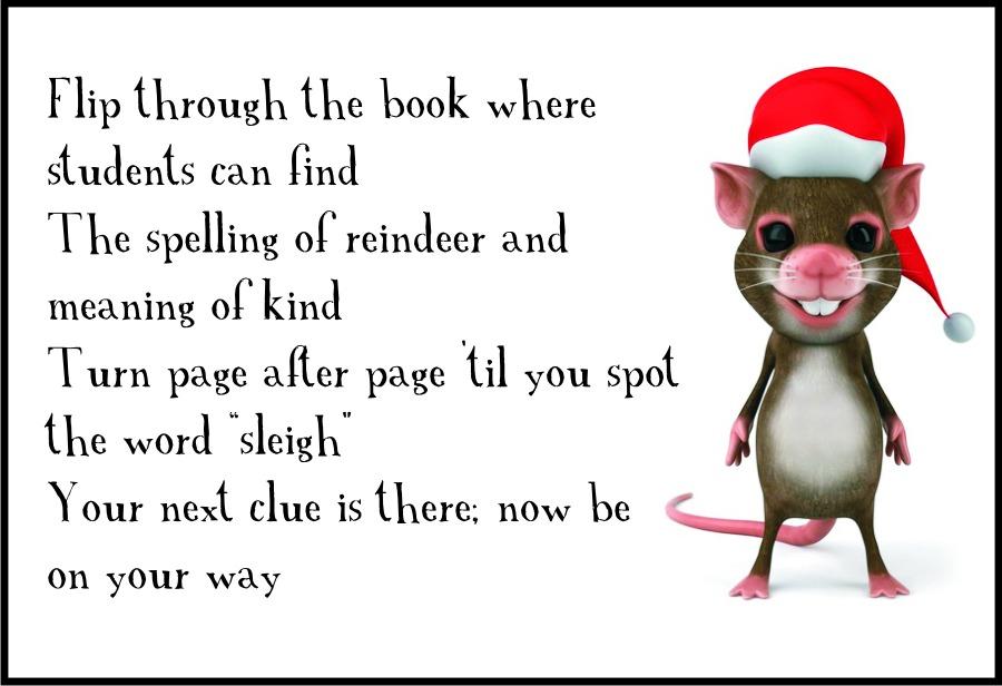 Christmas Classroom Scavenger Hunt Clue 3