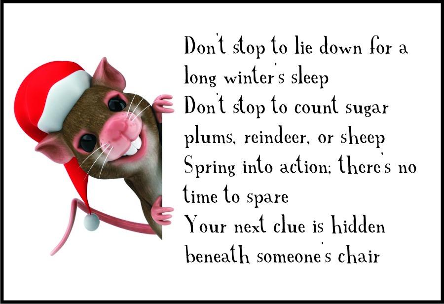 Classroom Christmas Scavenger Hunt Clue 4