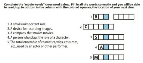 Crossword puzzle clue separate as coupons