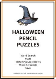 printable halloween pencil puzzles