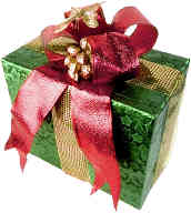 wrapped christmas gift scavenger hunt clue