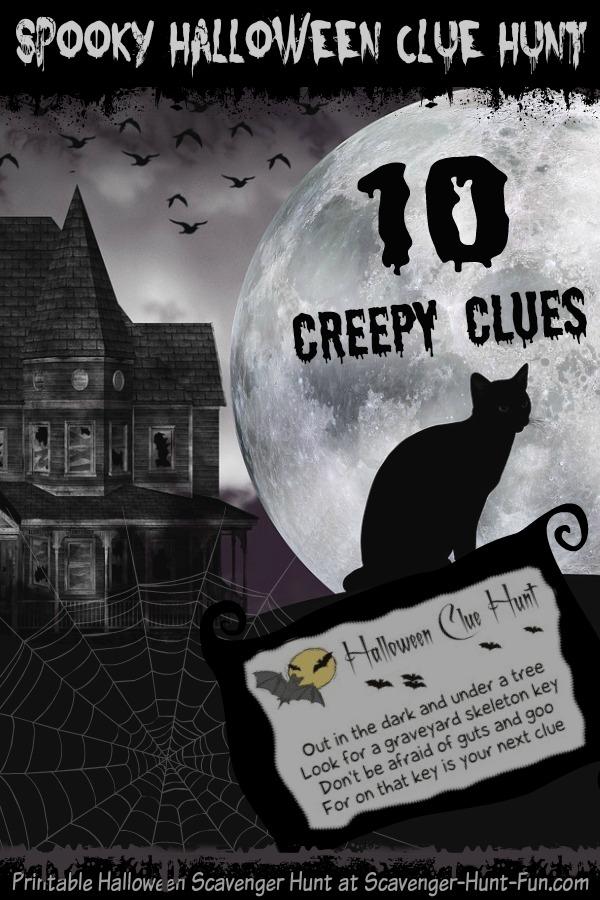 Spooky Halloween Clue Hunt